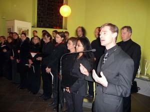 Ensemble Convivium. Am Mikrophon Ingo Kraus